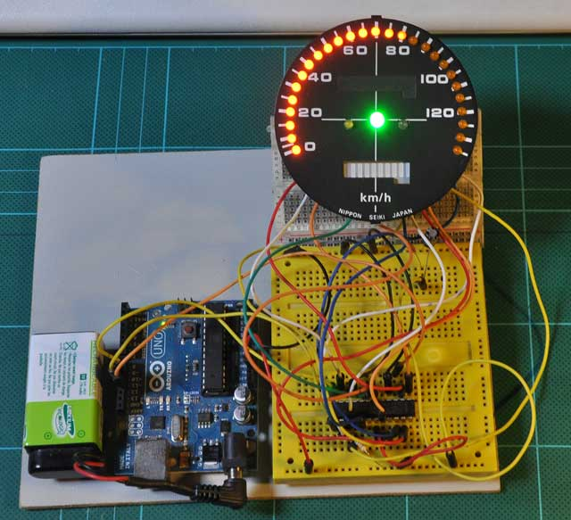 Chance Voltage Indicator : Motorcycle digital speedo with arduino martyn davis